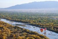 Hot air balloons, Albuquerque, New Mexico, United States of America, North America