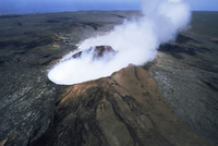 The Pulu O's cinder cone, the active vent on the southern flank of the Kilauea volcano, UNESCO World Heritage Site, Big Island, 20025360642| 写真素材・ストックフォト・画像・イラスト素材|アマナイメージズ