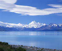 Mount Cook (Aoraki), Mount Cook National Park, UNESCO World Heritage Site, Southern Alps, Mackenzie Country, Canterbury, South I