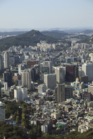 Overview of city, Seoul, South Korea, Asia 20025363191| 写真素材・ストックフォト・画像・イラスト素材|アマナイメージズ