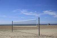 Volleyball net, Santa Monica, Los Angeles, California, United States of America, North America
