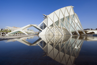 Science Museum, architect Santiago Calatrava, City of Arts and Sciences, Valencia, Spain, Europe 20025363822| 写真素材・ストックフォト・画像・イラスト素材|アマナイメージズ