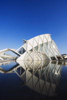 Science Museum, architect Santiago Calatrava, City of Arts and Sciences, Valencia, Spain, Europe 20025363823| 写真素材・ストックフォト・画像・イラスト素材|アマナイメージズ