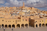 View over the town of Ghardaia, Mozabite capital of M'Zab, UNESCO World Heritage Site, Algeria, North Africa, Africa