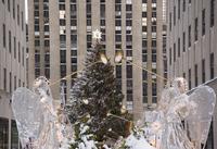The Christmas tree and decorations under fresh snow in Rockefeller Center, New York City, New York State, United States of Ameri 20025365065| 写真素材・ストックフォト・画像・イラスト素材|アマナイメージズ