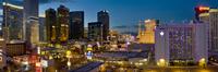 Night panorama, The Strip, Las Vegas, Nevada, United States of America, North America 20025365346| 写真素材・ストックフォト・画像・イラスト素材|アマナイメージズ
