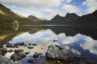 Cradle Mountain and Dove Lake, Cradle Mountain-Lake St. Clair National Park, UNESCO World Heritage Site, Tasmania, Australia, Pa