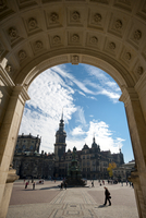 Theaterplatz from Opera House, Dresden, Saxony, Germany, Europe 20025365907| 写真素材・ストックフォト・画像・イラスト素材|アマナイメージズ