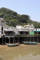 Stilt houses, fishing village of Tai O, Lantau Island, Hong Kong, China, Asia 20025366475| 写真素材・ストックフォト・画像・イラスト素材|アマナイメージズ