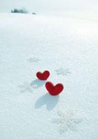雪の結晶とハート