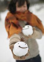 手のひらの上の雪だるま