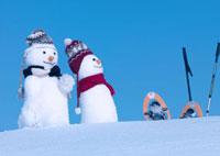 雪原の雪だるま