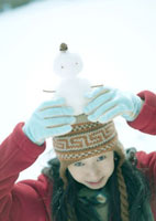 頭の上の雪だるま