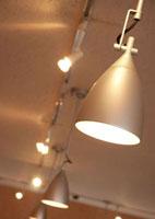 カフェの照明ライト