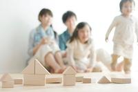 積み木と家族