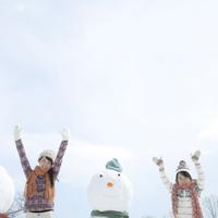 雪だるまと親子