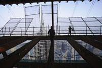 Construction site,Shanghai World Financial Centre