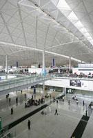 Departure & arrival hall of Hong Kong International Airport
