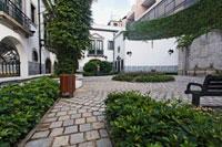 Portuguese style garden inside the Leal Senado Building