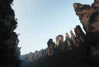 Sandstone pillars at Yuanjiajie of Mount Wulingyuan of the U