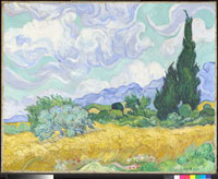 A Wheatfield,with Cypresses