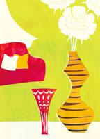 虎模様の花瓶のあるインテリア 20037000079| 写真素材・ストックフォト・画像・イラスト素材|アマナイメージズ