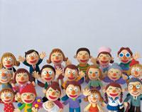 笑顔のいろいろな人々 20037000169| 写真素材・ストックフォト・画像・イラスト素材|アマナイメージズ