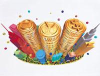 マネービルディングイメージ 20037000322| 写真素材・ストックフォト・画像・イラスト素材|アマナイメージズ