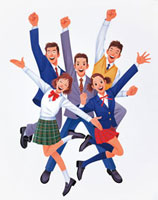 若者たち 20037000470| 写真素材・ストックフォト・画像・イラスト素材|アマナイメージズ