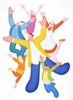 踊る人々 20037000708| 写真素材・ストックフォト・画像・イラスト素材|アマナイメージズ