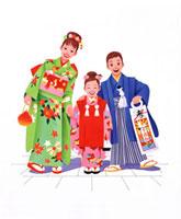 七五三 20037000743| 写真素材・ストックフォト・画像・イラスト素材|アマナイメージズ