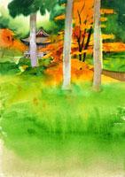 寺の庭イメージ 20037000781| 写真素材・ストックフォト・画像・イラスト素材|アマナイメージズ