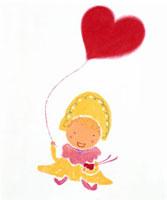 ハート型の風船を浮かべる少女 20037000814| 写真素材・ストックフォト・画像・イラスト素材|アマナイメージズ