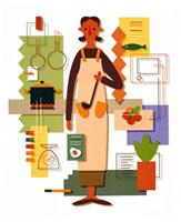 料理する女性 20037000942  写真素材・ストックフォト・画像・イラスト素材 アマナイメージズ