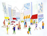 街と人々 20037001100| 写真素材・ストックフォト・画像・イラスト素材|アマナイメージズ
