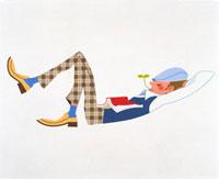 眠る男性 20037001147| 写真素材・ストックフォト・画像・イラスト素材|アマナイメージズ