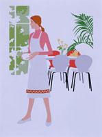 家事をする女性 20037001286  写真素材・ストックフォト・画像・イラスト素材 アマナイメージズ