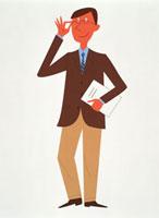 眼鏡を掛けたビジネスマン 20037001368| 写真素材・ストックフォト・画像・イラスト素材|アマナイメージズ