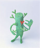 緑の人のオブジェ