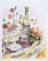 花のあるテーブル