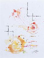 飛び散る花(水彩) 20037001525| 写真素材・ストックフォト・画像・イラスト素材|アマナイメージズ