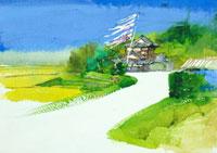 鯉幟と田園の風景