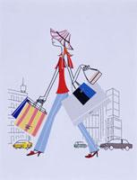 買い物をする女性 20037001561| 写真素材・ストックフォト・画像・イラスト素材|アマナイメージズ