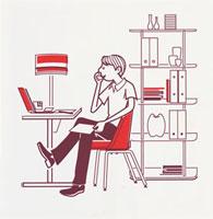 パソコンを見る男性 20037001567| 写真素材・ストックフォト・画像・イラスト素材|アマナイメージズ
