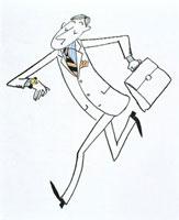 腕時計を見て、急ぐ男性 20037001608| 写真素材・ストックフォト・画像・イラスト素材|アマナイメージズ