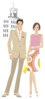 街角の夫婦 20037001707| 写真素材・ストックフォト・画像・イラスト素材|アマナイメージズ