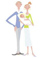 赤ちゃんと夫婦 20037001727| 写真素材・ストックフォト・画像・イラスト素材|アマナイメージズ