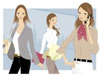 働く女性3人 20037001812| 写真素材・ストックフォト・画像・イラスト素材|アマナイメージズ