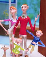 家族4人とペット