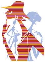 おしゃれな女性のシルエット 20037002204| 写真素材・ストックフォト・画像・イラスト素材|アマナイメージズ